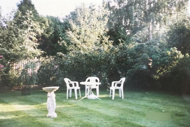 イギリス・ケンブリッジホームステイ先の庭