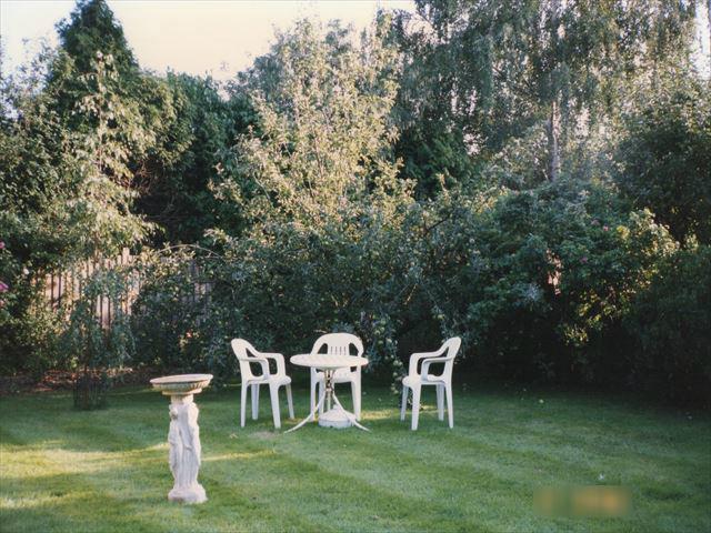 イギリス・ケンブリッジホームステイ先の裏庭