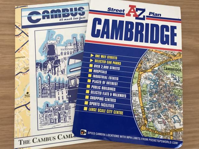 イギリスケンブリッジの地図