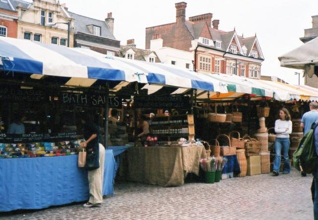 イギリス・ケンブリッジのシティセンター内マーケット