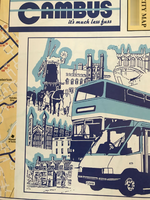 The Cam Bus Cambridge Map (ケムバスケンブリッジマップ)