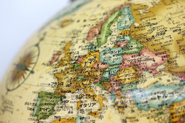 地球儀ヨーロッパ大陸