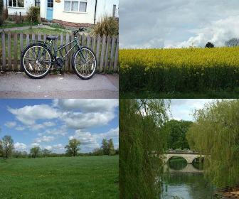 イギリス・ケンブリッジの街並みと自転車