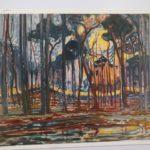 Piet Mondrian : Woods near Oele, 1908 絵葉書