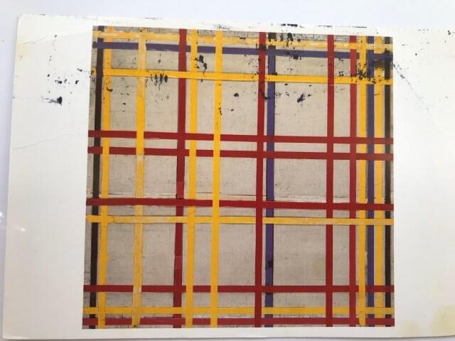 Piet Mondrian : New York City 2, 1942-44  絵葉書