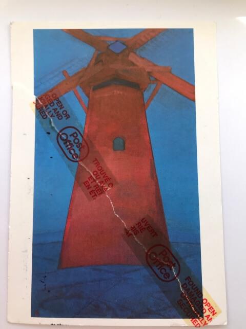 Piet Mondrian : Red Windmill, 1910/11  絵葉書