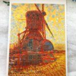 ピエト・モンドリアン「日の当たる風車」1908年 絵葉書