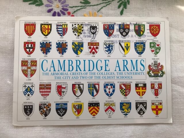 CAMBRIDGE ARMS Designed by Tim Rawle postcard