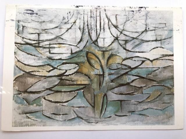 Piet Mondrian : Blossoming apple tree, 1912 絵葉書