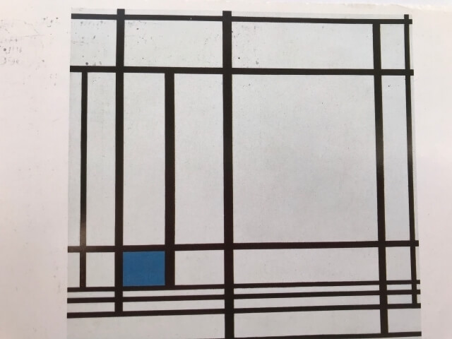 Piet Mondrian : Composition with Blue, 1937 絵葉書