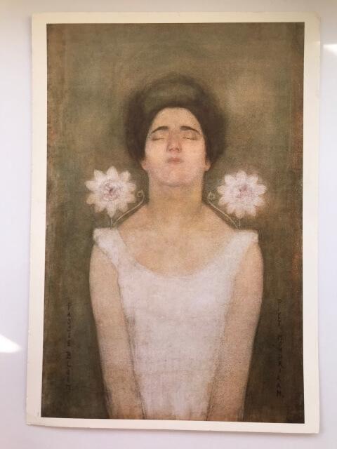 Piet Mondrian : Passionflower, 1908(?) 絵葉書