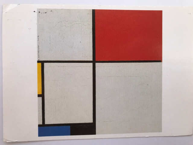 Piet Mondrian : Composition with Red, Yellow and Blue, 1928 絵葉書
