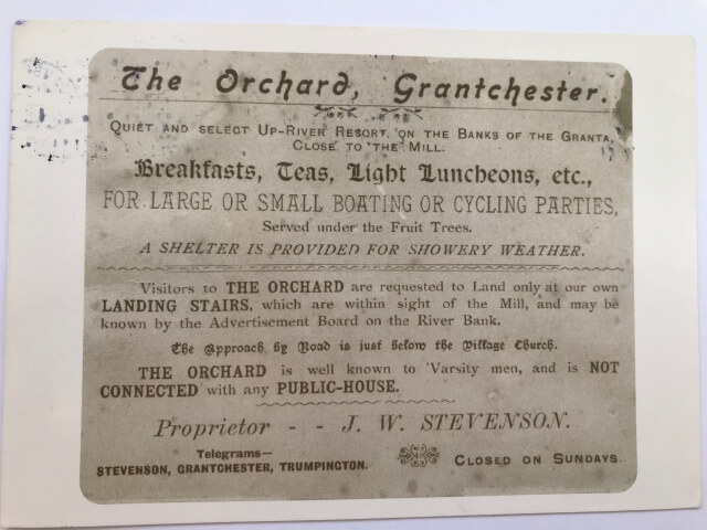 The Orchard, Grantchester 絵葉書