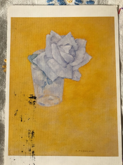 Piet Mondrian : White Rose in Glass .after 1921
