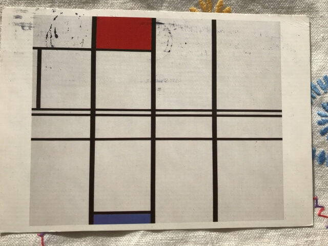 Piet Mondrian : Composition with Red and Blue . 1936 絵葉書