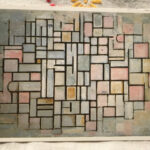 Piet Mondrian : Composition No.6 , 1914 絵葉書