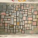 Piet Mondrian : Composition No.6 , 1914 絵葉書
