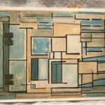 Piet Mondrian : Composition No.9 Blue Facade, 1913/14 絵葉書